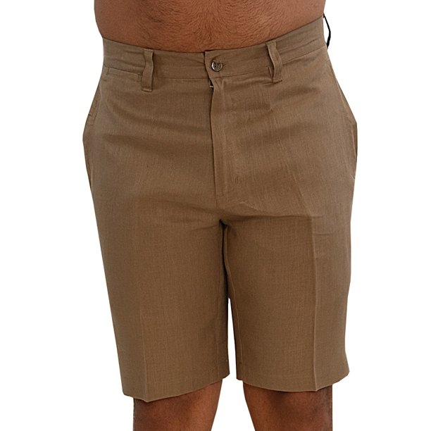 Mens Casual Slim Fit Solid Short Pants with Pockets