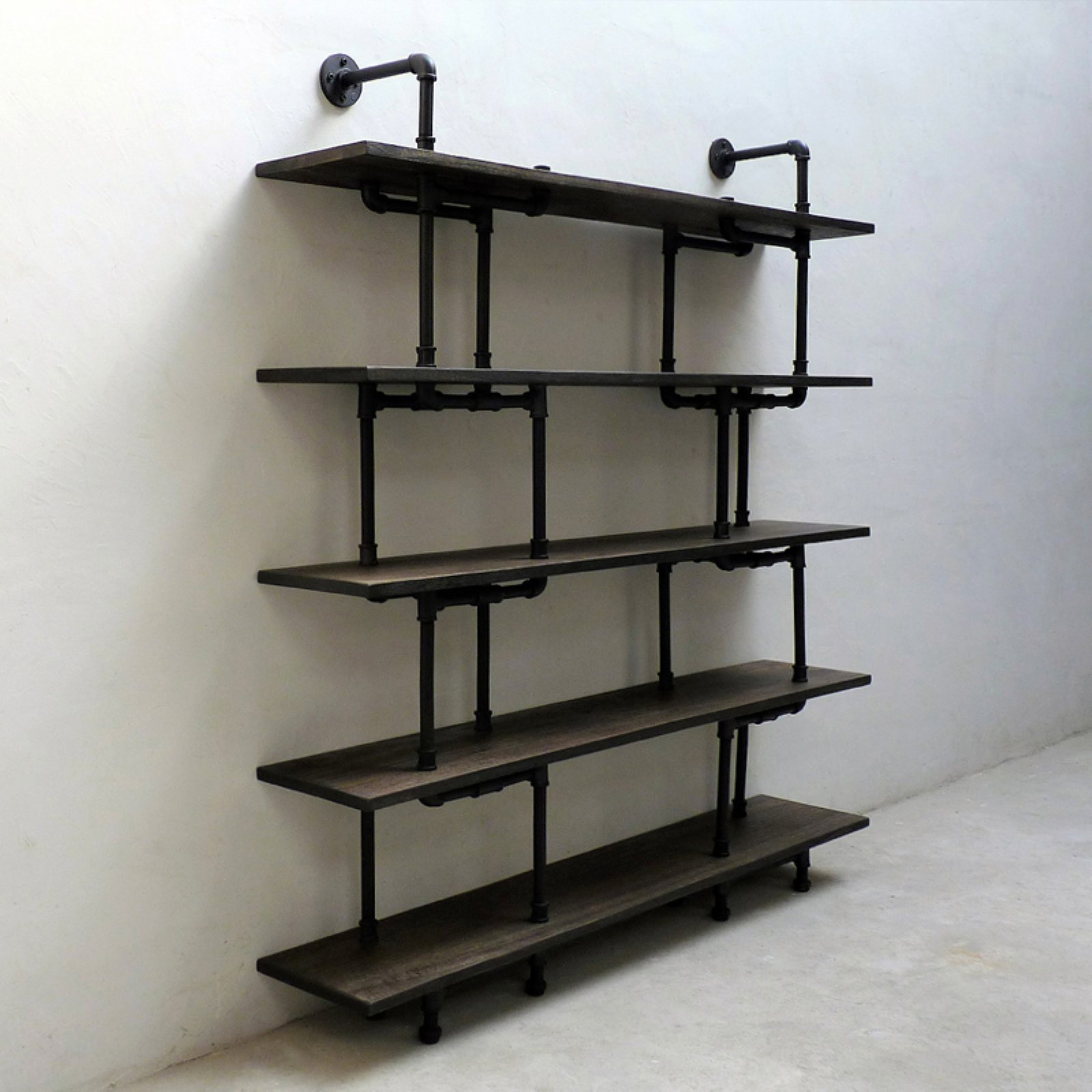 Furniture Pipeline Eugene Modern Industrial Etagere Bookcase