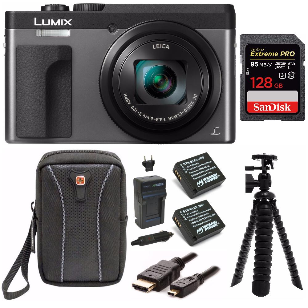 Panasonic DC-ZS70K Lumix  Digital Camera w/ 128 GB SD Card & Accessory Bundle