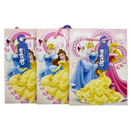 Disney Princess Pink Colored Hearth Themed Small Gift Bags (3pc)](Princess Theme)