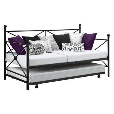 Island Daybed Set (DHP Lubin Metal Daybed and Trundle Frame Set,)