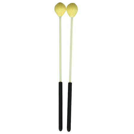 Marimba Instruments - Primary Marimba Stick Mallets Xylophone Glockensplel Mallet with Fiberglass Handle Percussion Instrument Accessories for Professionals Amateurs 1 Pair Yellow