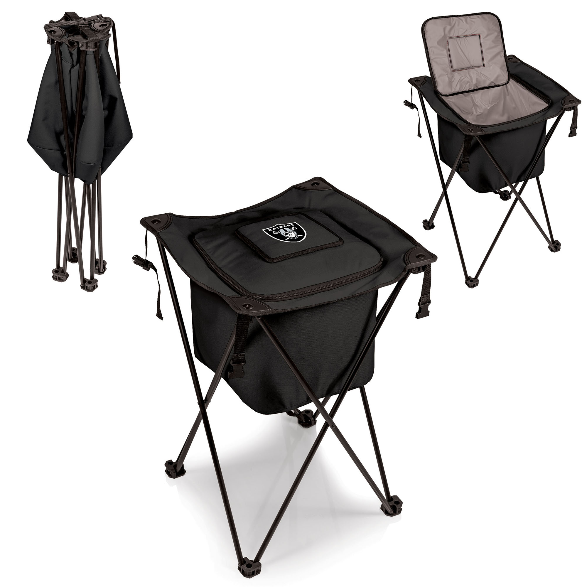 Oakland Raiders Sidekick Cooler - Black - No Size