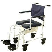 Invacare 6891 Mariner Rehab Shower Commode Chair Mariner Rehab Shower Commode Chair with 5 Inch Casters and 18 Inch Seat