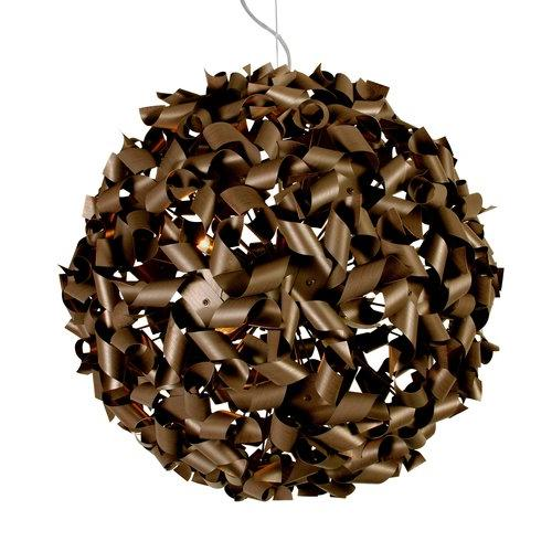 Varaluz 124P09MBZ 9 Light Recycled Aluminum Medium Pendant from the Pinwheel Collection, Bronze