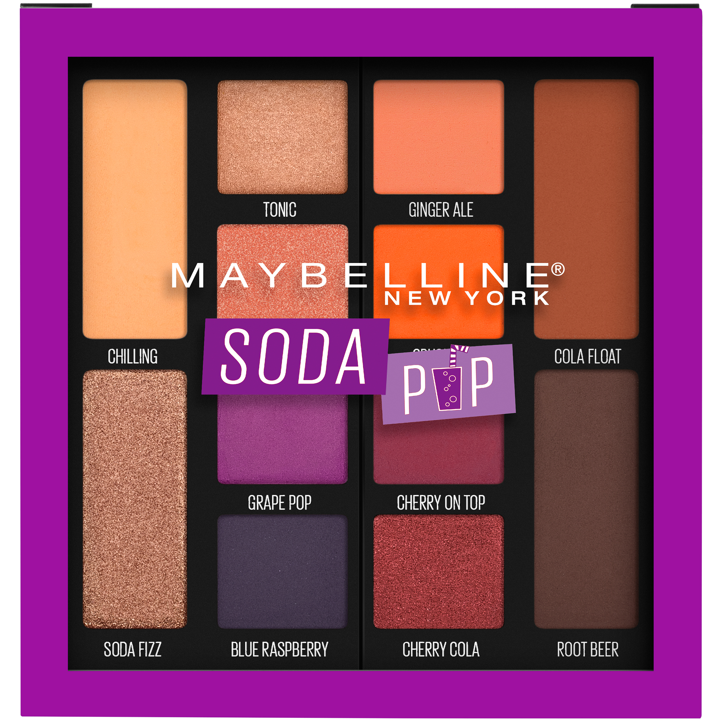 Maybelline Soda Pop Eyeshadow Palette Makeup, Soda Pop, 0.26 oz.