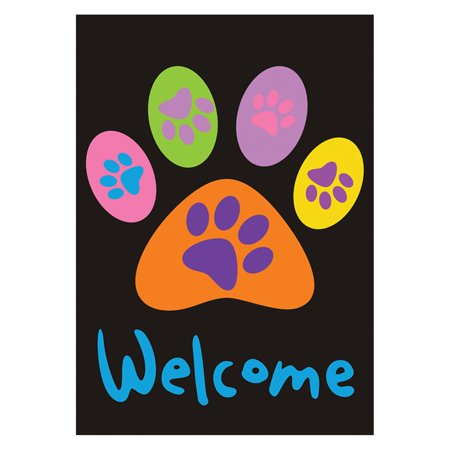 - Toland Home Garden Welcome Paws Double Sided Flag
