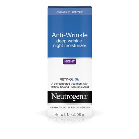 Neutrogena Ageless Intensives Wrinkle Cream, Hyaluronic Acid, 1.4 oz (Deep Moisture Facial Cream)