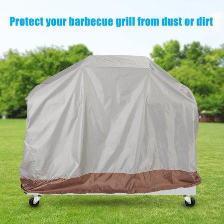Barbecue Grill Cover,Zerone 210D Thickened Oxford Cloth Barbecue Grill Cover Outdoor Waterproof BBQ Accessory 145*61*117cm