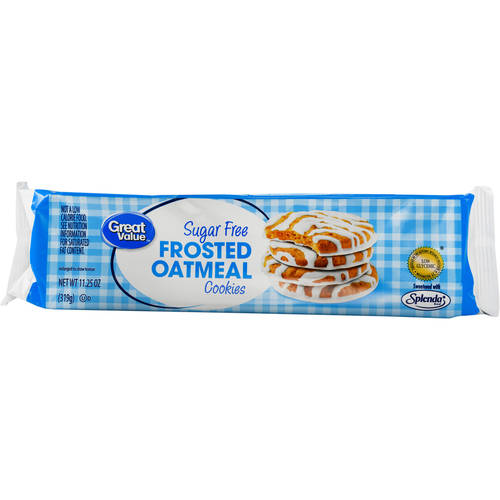 Great Value Frosted Oatmeal Cookies, Sugar Free, 11.25 oz