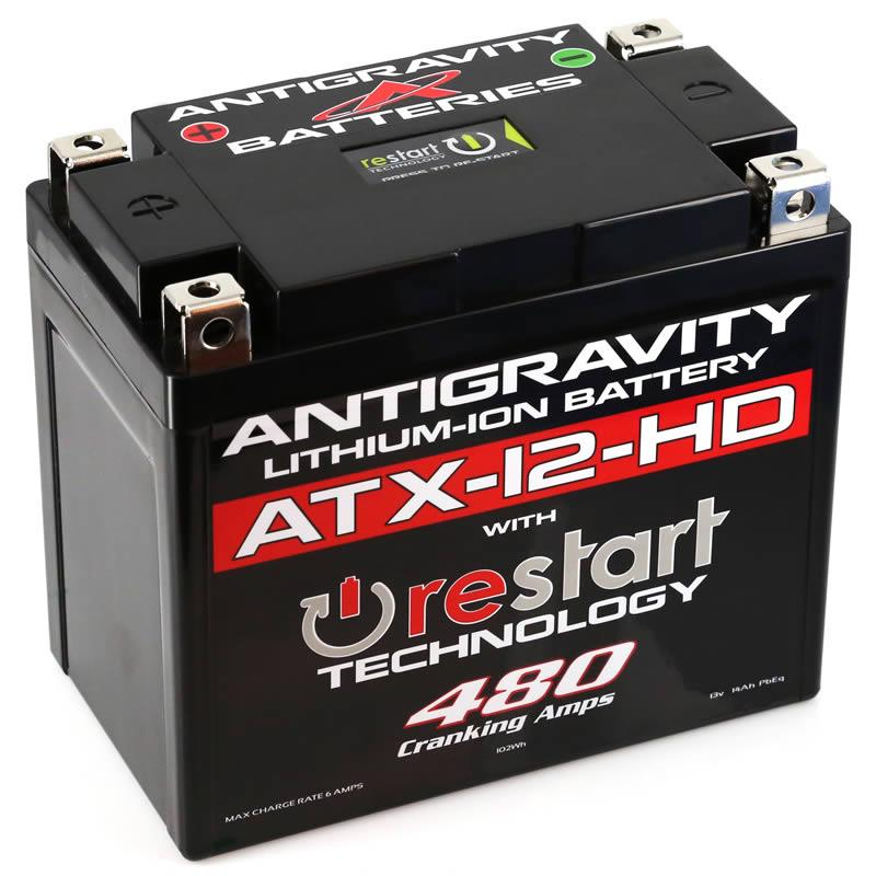 Antigravity Batteries AG-ATX12-HD-RS RE-START Lithium-Ion Battery - YTX12 Case Style