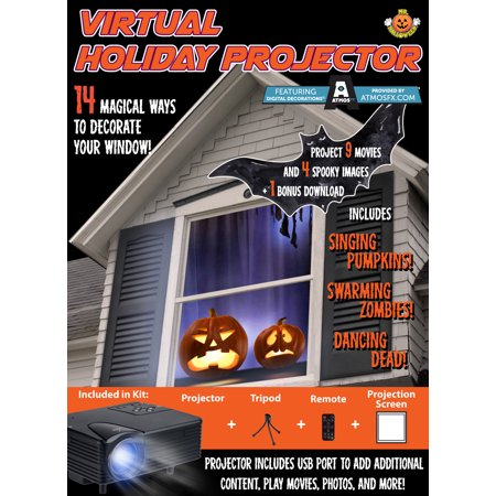 mr christmas indoor virtual holiday projector halloween