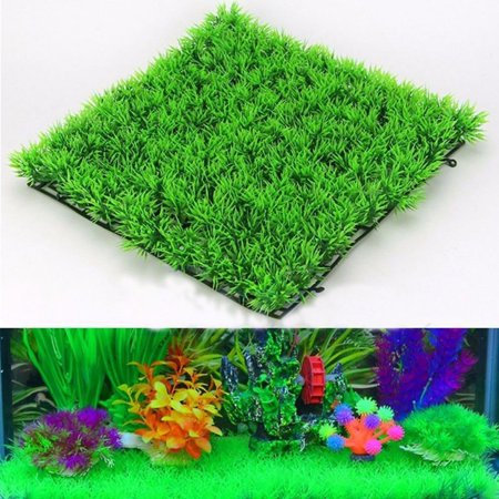 Artificial Water Aquatic Green Grass Plant Lawn Aquarium Fish Tank - Toy Aquarium