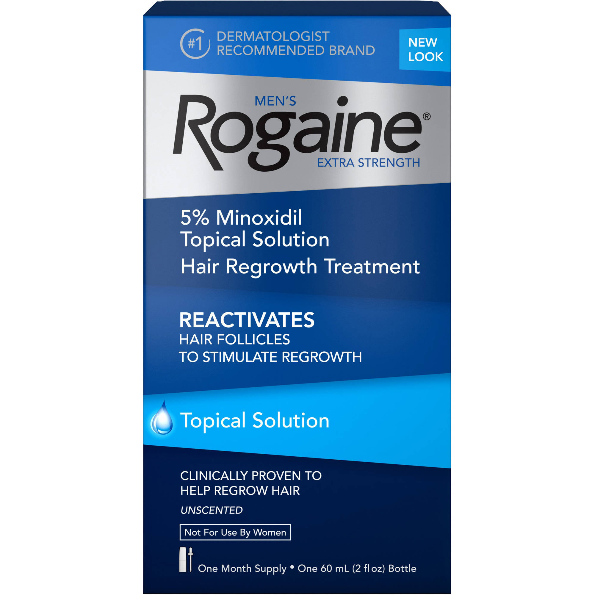 Men's Rogaine Extra Strength Hair Regrowth Treatment, One Month Supply