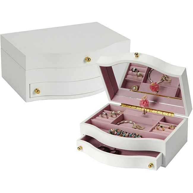 Children's White Musical Jewelry Box