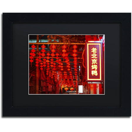 Trademark Fine Art  Redlight  Canvas Art By Philippe Hugonnard  Black Matte  Black Frame