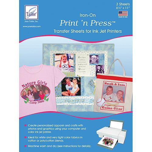 "June Tailor Print 'n Press Iron-On Transfer Paper, 8-1/2"" x 11"", 3/pkg"