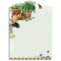 Lissom Design 28067 5 lbs Sticky Notepad - Herb Garden