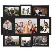 """9 Opening Window Photo Frame Wall Hanging Selfie Gallery Style Collage - 9 Photo Sockets - Wall Mounting Design - 16"""" x 19"""" 