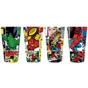Marvel Comics Comic Strip Panel Collage Style Set of 4 Pint Glasses by Classic Import