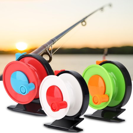 Handle Fishing Accessories - Fihsing Reel,Fishing Plastic Reel,Zerone Portable Mini Plastic Single Handle Fly Casting Spinning Reel Fishing Tackle Accessory