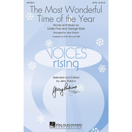 Hal Leonard The Most Wonderful Time of the Year SSA by Andy Williams Arranged by Jerry Rubino (Halloween Most Wonderful Time)