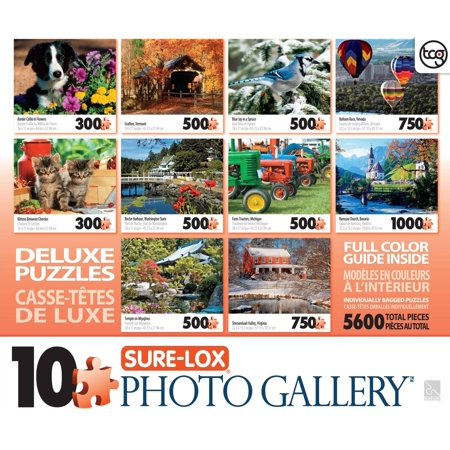 SureLox Photo Gallery 10 Jigsaw Puzzle Pack