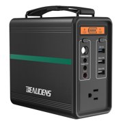 Beaudens Portable Power Station 166Wh Solar Generator Lithium Iron Battery MPPT Charging Emergency Power Station Backup Power Supply for Outdoor RV Van Travel Camping CPAP