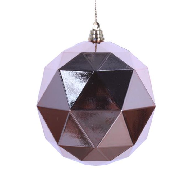 8 In Rose Gold Shiny Geometric Christmas Ornament Ball Walmart Com Walmart Com
