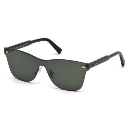 - ERMENEGILDO ZEGNA EZ 0025 Sunglasses 96N Shiny Dark Green