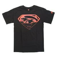 DC Comics Batman vs. Superman Battle In Logo Mens Black T-Shirt | L