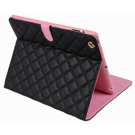 Full Cover Synthetic Leather Case For iPad 2/3/4 - Black (Black Ipad Case)