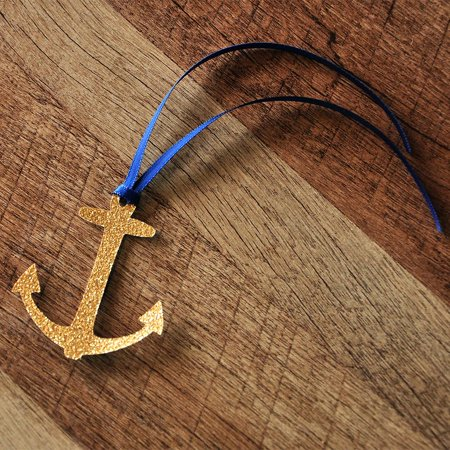 Nautical Baby Shower Decorations. Ships in 1-3 Business Days. Anchor Party Favor Tags 10CT.