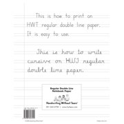 Double-Lined Notebook Paper, 100 Sheets, Sold as 100 sheets By Handwriting Without Tears