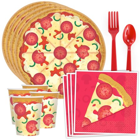 Pizza Party Standard Tableware Kit (Serves 8)](Pizza Party Decorations)