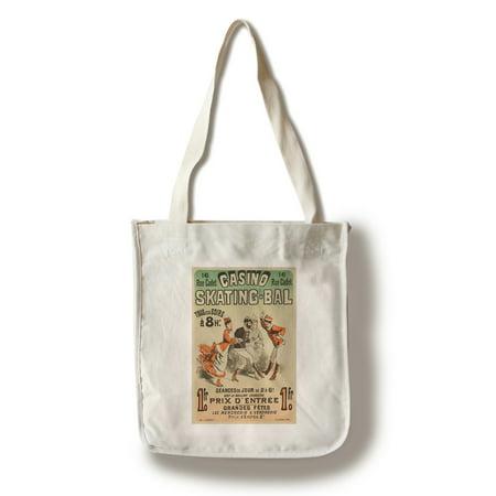 Casino Seating (Casino Skating - Bal Vintage Poster (artist: Cheret) France c. 1876 (100% Cotton Tote Bag - Reusable))