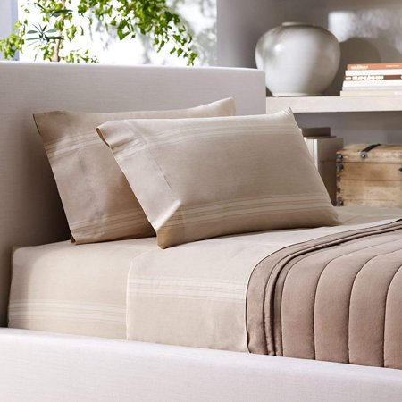 Ralph Lauren Bed Sheets - Ralph Lauren Corso Campania Stripe King Flat Sheet Natural Cream