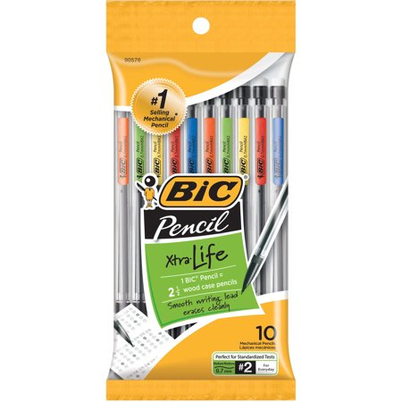 Bic Xtra-Life Mechanical Pencils, Medium Point 0.7mm #2, 10-Count