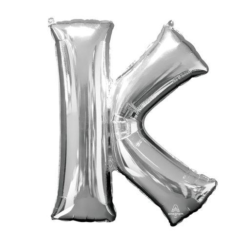 "Burton & Burton 33"" Letter K Silver Balloon"