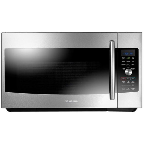 Samsung Mc17f808kdt 1 7 Cu Ft Stainless Convection Over The Range Microwave Oven
