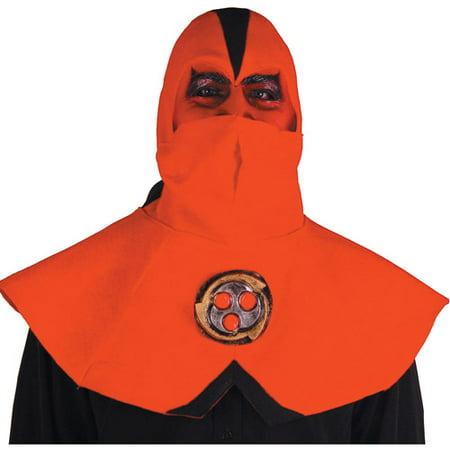 Ninja Devil Half Mask with Hood Adult Halloween Accessory - Devil Half Mask