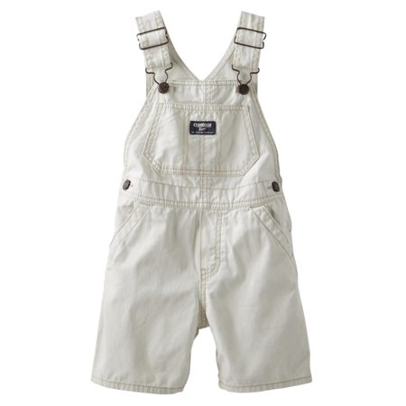 OshKosh Infant & Toddler Boys Beige Tan Shortalls Overall Shorts - Children's Mechanic Coveralls