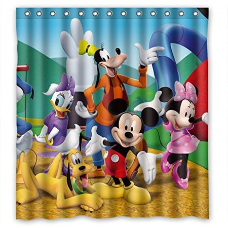 DEYOU Mickey Mouse Shower Curtain Polyester Fabric Bathroom Size 66x72 Inch