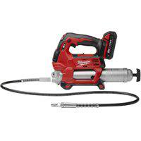 Milwaukee M18 Cordless Grease Gun Kit, 10000 psi, 18 V, 48 in Hose Lithium Ion Battery, 2 Speeds, 15
