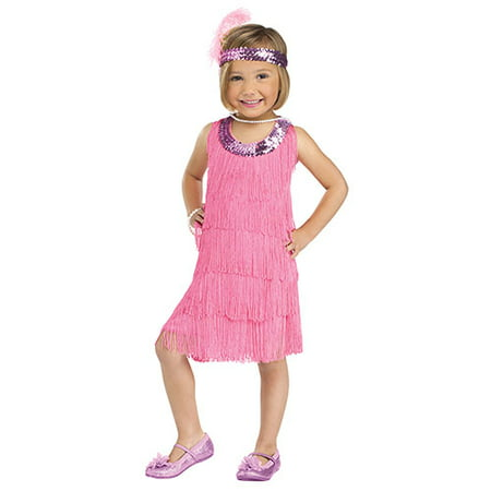 Flapper Baby Costume (Toddler Pink Flapper Twenties Costume sz XL)