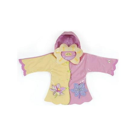 - Kidorable Little Girls Yellow Lotus Flower Pockets Hooded Rain Coat 2T-6X