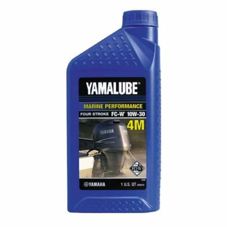 Yamaha Outboard OEM 10W30 4M MARINE 4 STROKE ENGINE OIL QUART LUB-10W30-FC-12 ()