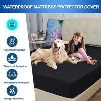 Waterproof Mattress Protector Microfiber Bed Mattress Pad Deep Pocket Pads Bed Cover White Twin