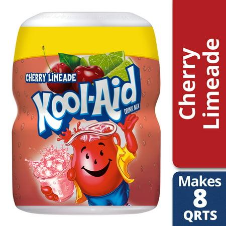 Kool-Aid Sweetened Cherry Limeade Powdered Drink Mix, Caffeine Free, 19 oz Jar - Cool Aid Man