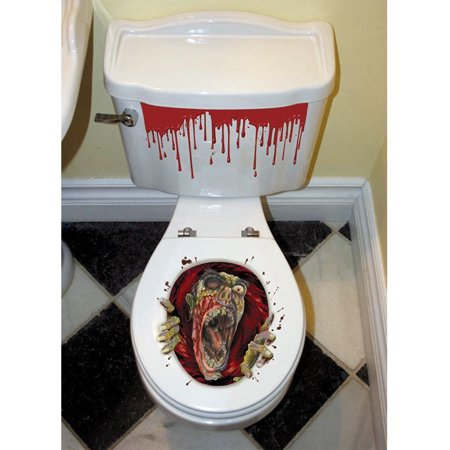 Zombie Toilet Seat Grabber (Each) - Party - Zombie Party Supplies